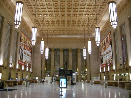 Inside Philadelphia 30th Street Station